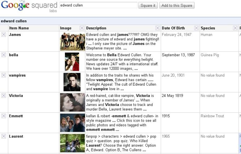 googlesquared search on edward cullen