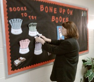 Bone Up on Books Bulletin Board