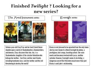 Twilight series recommendation poster